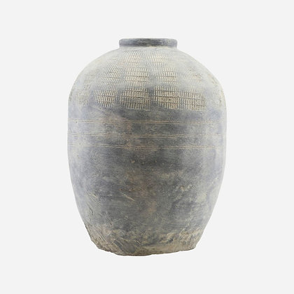 Très grand vase béton patiné