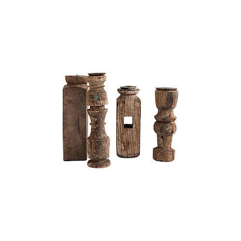 Chandelier bois recyclé