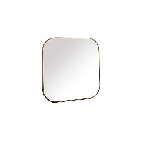 Miroir doré 40x40cm
