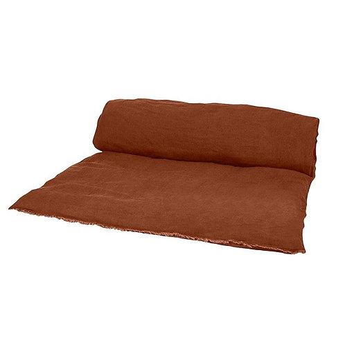 Sofa cover lin lavé brick