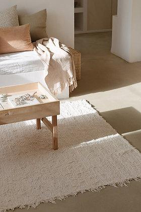 tapis coton recyclé écru 140x200