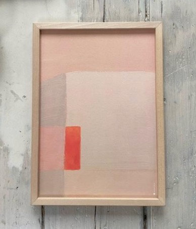 Chalk & Tangerine 50x70 cm