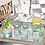 Thumbnail: 6 verres VERTS à eau recyclés beldis
