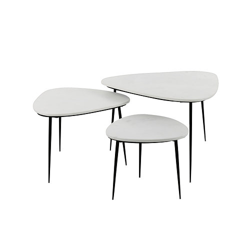 Table basse marbre blanc