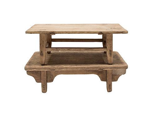 Petite Table basse orme recyclé