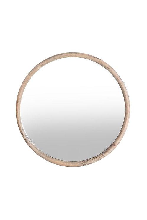 Miroir rond contour bois Ø58 cm