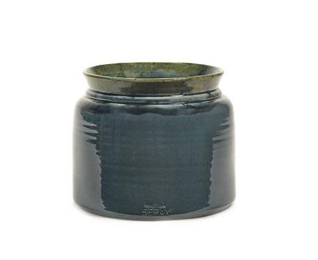 Cache-pot céramique bleu