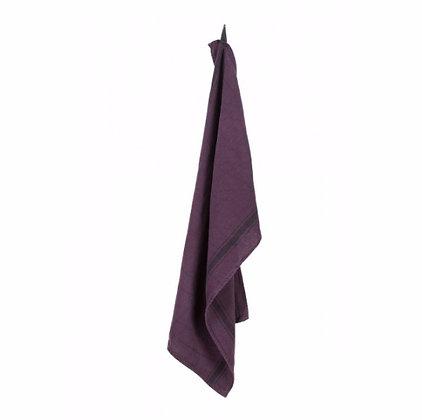 Torchon lin lavé olbia purple