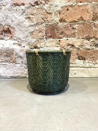 Cache-pot bambou couleur menthe
