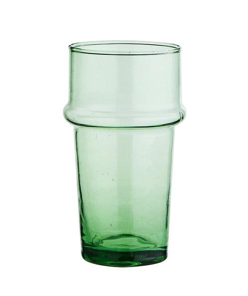 6 verres VERTS à eau recyclés beldis