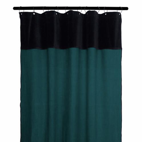 Rideau lin BLEU DE PRUSSE 130x300