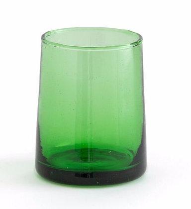 6 verres VERTS recyclés