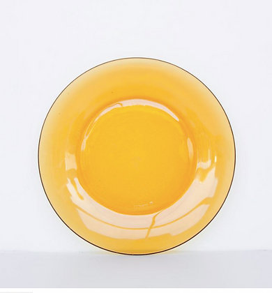 Petite assiette jaune ambre 70's