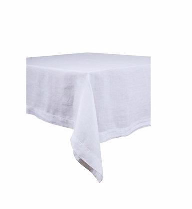 Nappe lin blanc uni