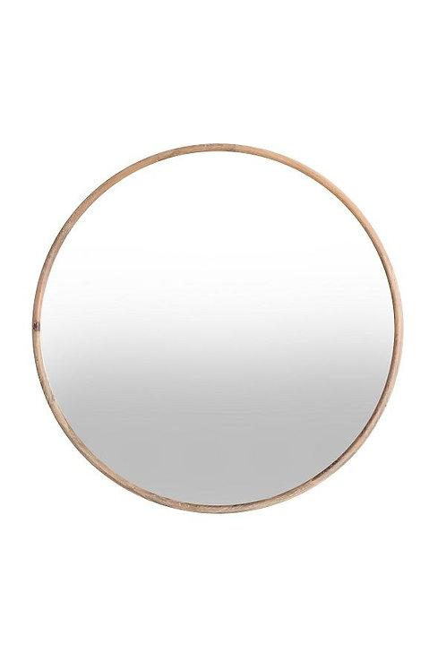 Miroir rond contour bois Ø72.5