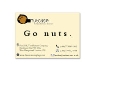 The nutcase business card.