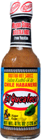 Best Mexican hot sauce brand El Yucateco Kutbil-Ik XXXtra Hot Habanero Sauce bottle with tan sauce and yellow label.