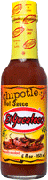 Best Mexican hot sauce brand El Yucateco Chipotle Hot Sauce bottle with red sauce and yellow label.