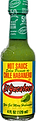 Best Mexican hot sauce brand El Yucateco Green Habanero Hot Sauce bottle with green sauce and yellow label.