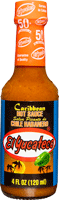 Best Mexican hot sauce brand El Yucateco Caribbean Habanero Hot Sauce bottle with orange sauce and tropical label.