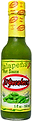 Best Mexican hot sauce brand El Yucateco Jalapeno Hot Sauce bottle with green sauce and yellow label.