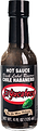 Best Mexican hot sauce brand El Yucateco Black Label Reserve Habanero Hot Sauce bottle with black sauce and label.