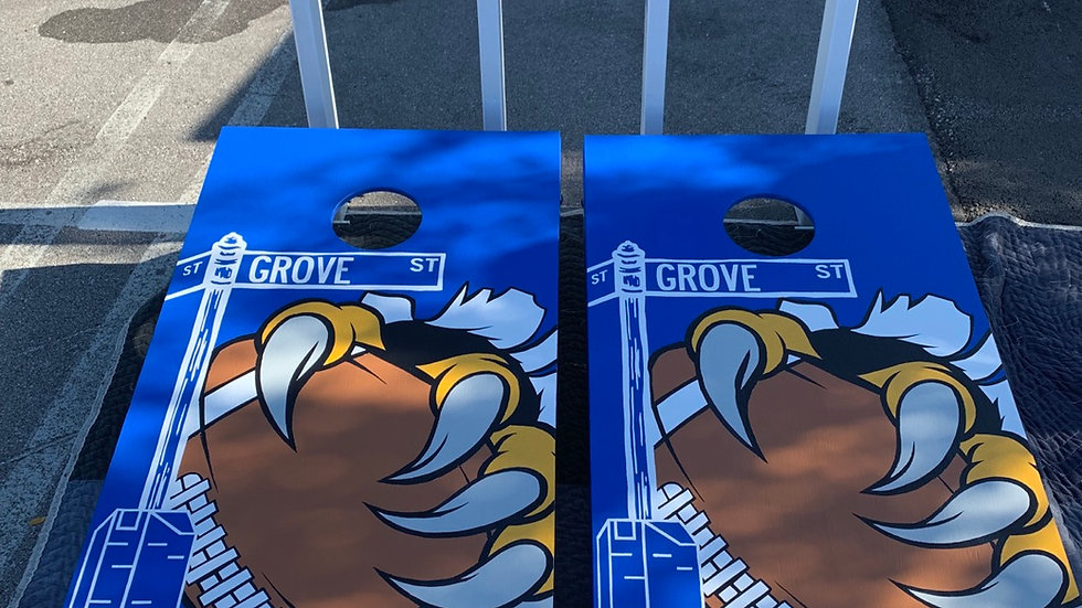 Intricate Cornhole Boards with Bags