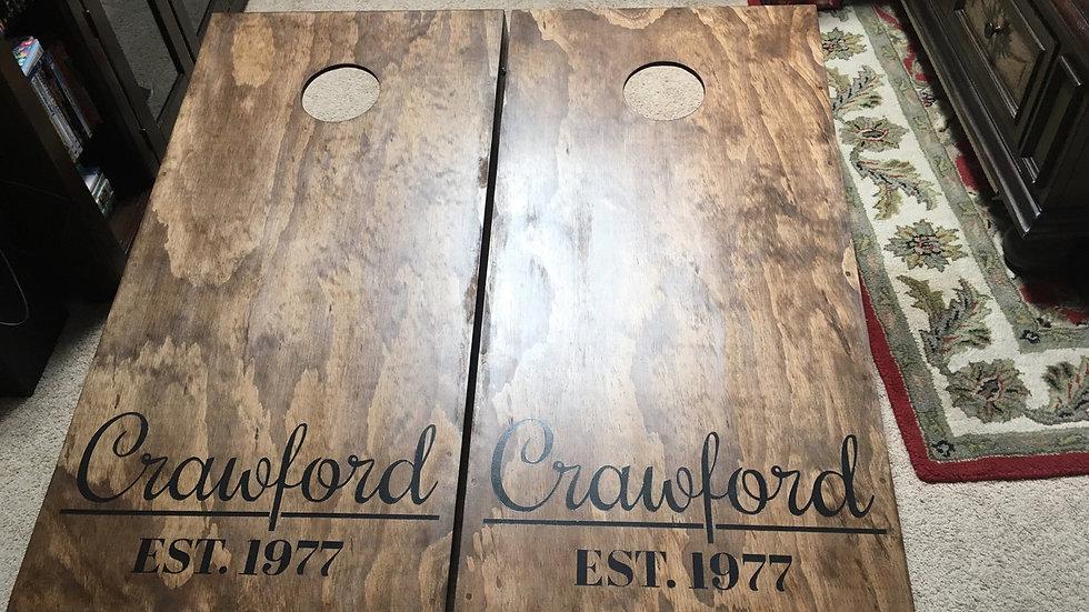 Basic Custom Design Cornhole Boards with Bags