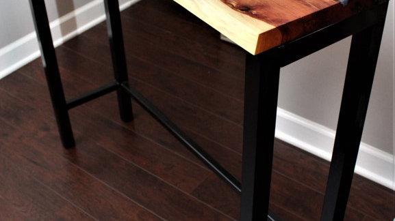 Live Edge Cedar Hallway/Sofa Table w/ Epoxy
