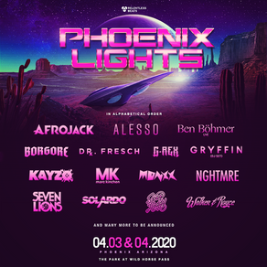 PHOENIX LIGHTS FESTIVAL ANNOUNCES A LEGION OF INTERGALACTIC ARTISTS FOR THE SIXTH ANNUAL EVENT