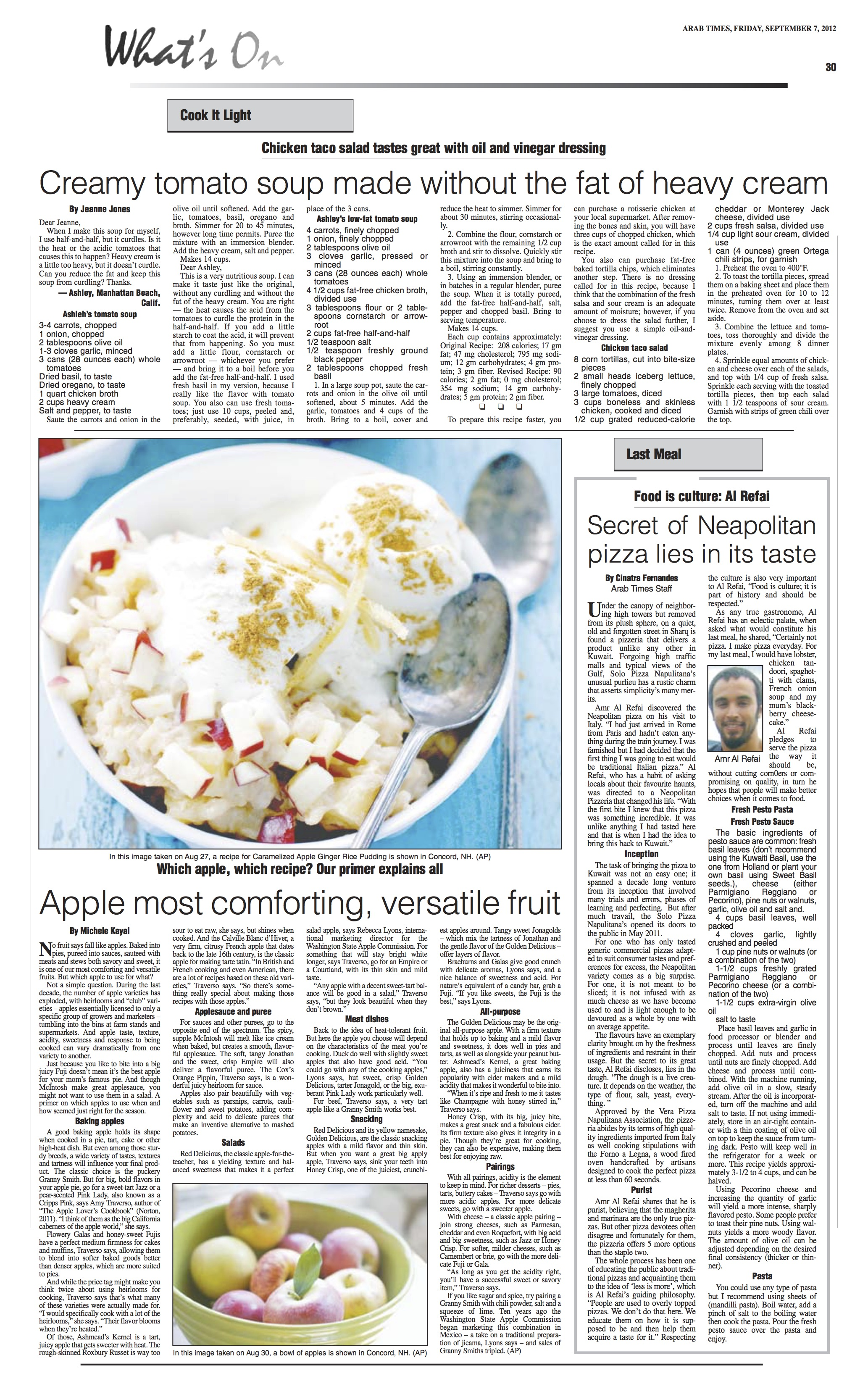 arab times - Last Meal (7 Sep 2012)