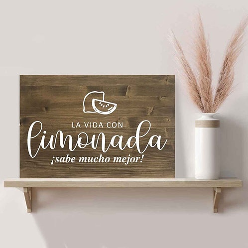 Cartel Limonada de Madera