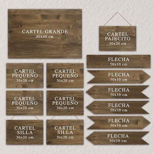 Pack Cartelería L Personalizado