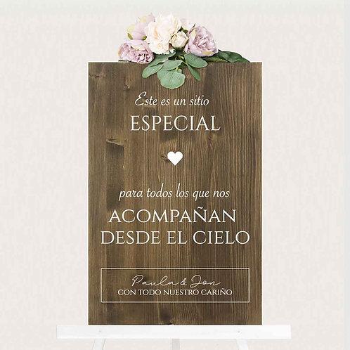 """Cartel """"Especial"""" de Madera"""