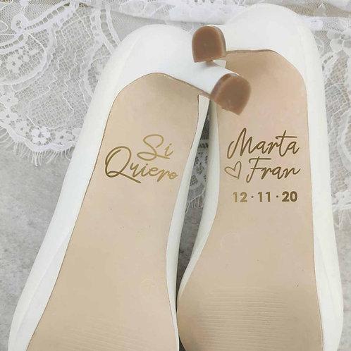 "Pegatinas para Zapatos ""Amor"""