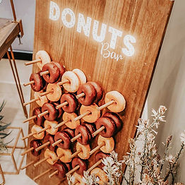 alquiler pared donuts evento boda bautiz