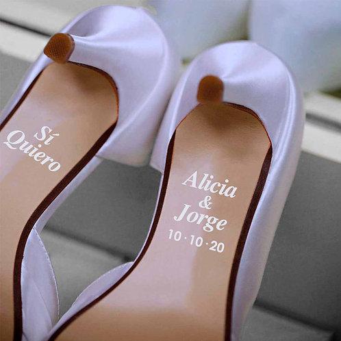 """Pegatinas para Zapatos """"Si Quiero"""""""
