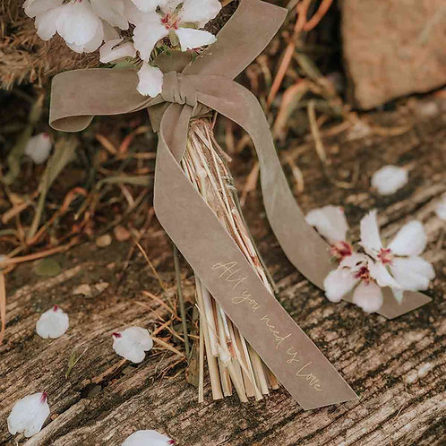 Cinta topo personalizada ramo de novia