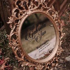 cartel espejo bienvenida boda