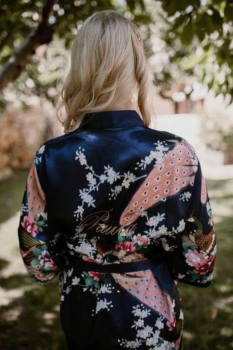 bata dama de honor amiga familia kimono