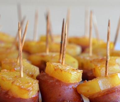 Sausage and Pineapple Bites