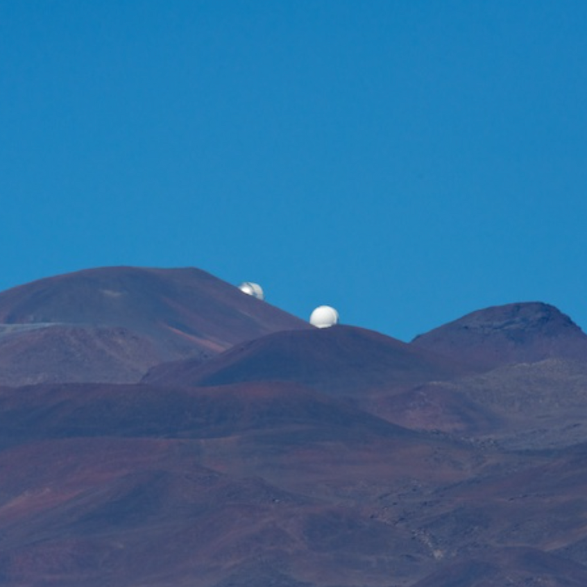 Observatories on Mauna Kea from Saddle Road