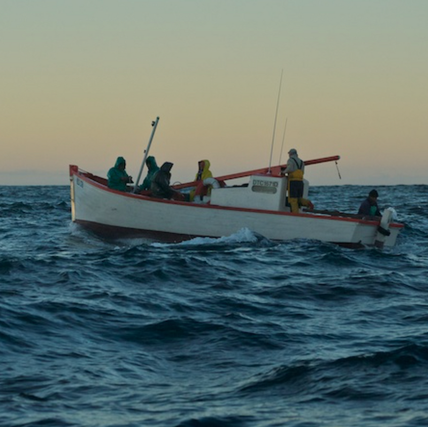Local fisherman work with handlines