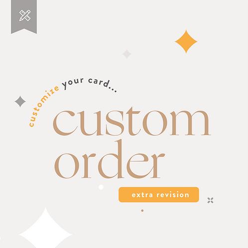 Custom Order  - Extra Revision