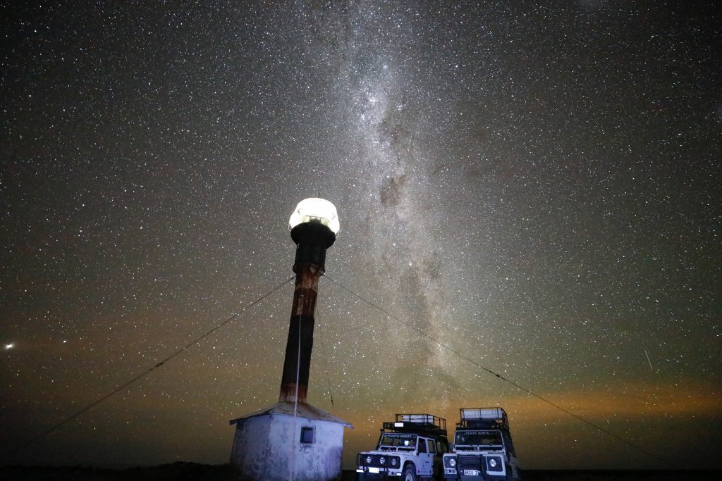 Several evenings were spent recording images of the night sky. Peninsula Valdes is an ideal place to do this and the Milky Way was magnificent. Photo Courtesy Lina Green.