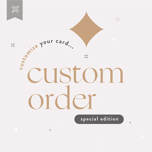 Custom Order Weddings - Special Edition & Rush Delivery