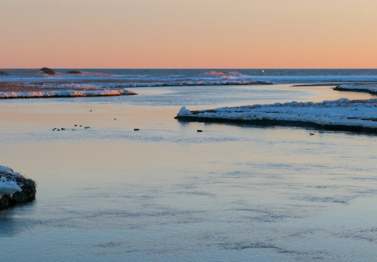 Mouth of the Swan River at dusk