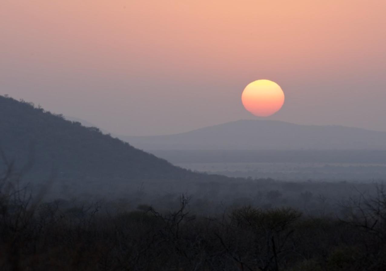 Sunrise on the Kalahari