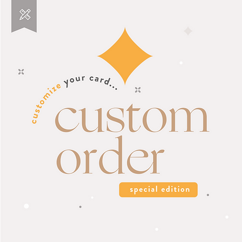 Custom Order  - Special Edition Adults