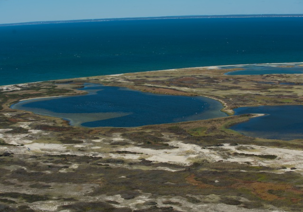 Powderhole from the air, Monomoy National Wildlife Refuge